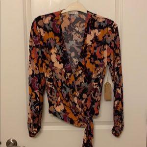 Wanderlux floral wrap top